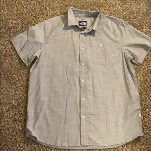 Gray THE NORTH FACE Button Down Short Sleeve Shirt
